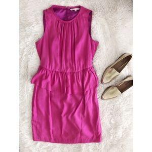 TRINA TURK hot pink peplum sleeveless dress